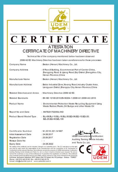 CE de Beston Machinery