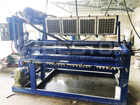 1500pcs Egg Carton Making Machine In the Philippines