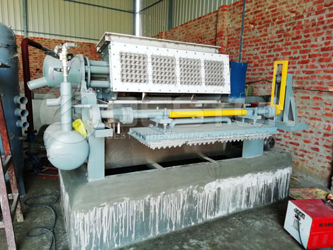 Equipo de moldeo de pulpa BTF-4-4 a la India