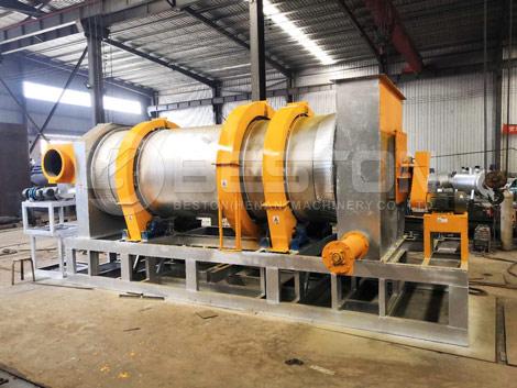 Máquina de pirólisis de biomasa con un nuevo diseño