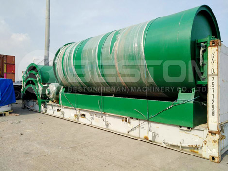 Tyre Pyrolysis Plant Was Delivered to Canada