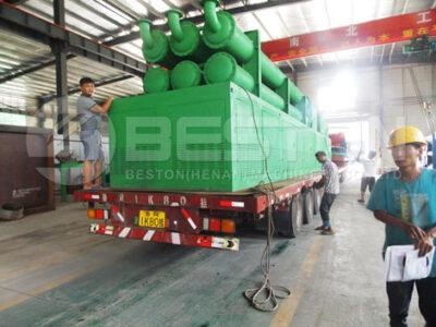 Установка пиролиза отходов Beston BLL-20 в Румынию
