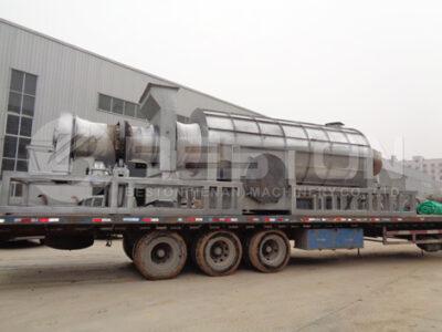 Машина для производства древесного угля была отправлена в Гану