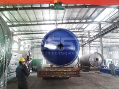 Установка для пиролиза шин BLJ-10 доставлена в Уганду
