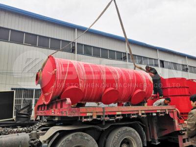 Станок для производства древесного угля БСТ-30 доставлен в Россию