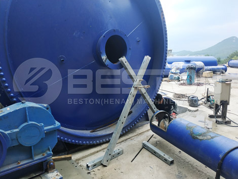 Rubber Pyrolysis Plant For Sale In Korea