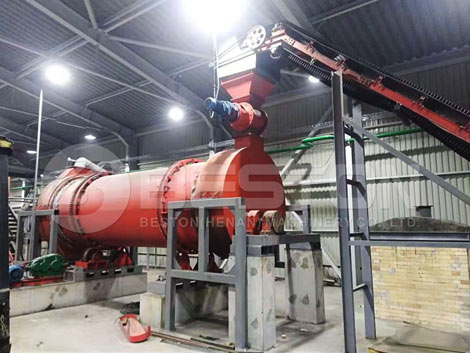 Sawdust Charcoal Making Machine Installed In Ukraine