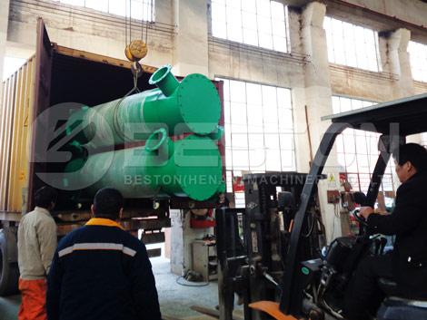 Máquina de carbonización para entrega