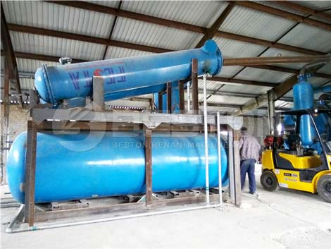 Instalación de una planta de pirólisis para un cliente de Hungría