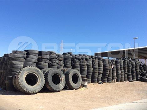 Scrap Tyres In Jordan Customer's Site