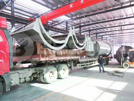 Máquina de pirólisis de neumáticos BLJ-10 a Holanda