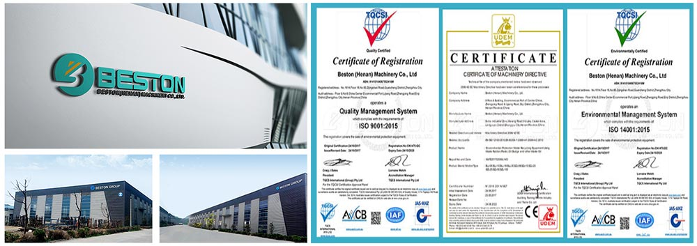 Beston Factory and Certificates