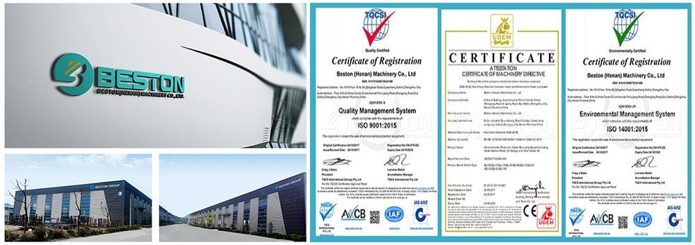 Fábrica e certificados da Beston