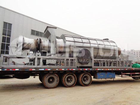 Машина для производства древесного угля в Гану