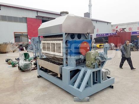 BTF-4-8 Máquina para fabricar bandejas de huevos para Costa de Marfil