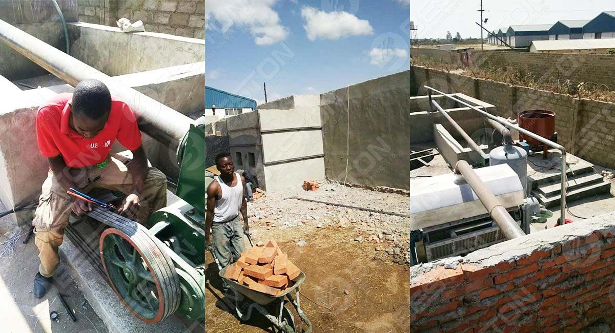 Machine à plateau d'oeufs installée en Zambie