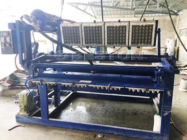 Máquina de bandeja de huevos de 1500 piezas manualmente