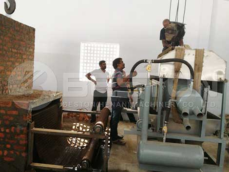 2500pcs Egg Tray Machine Installed In India