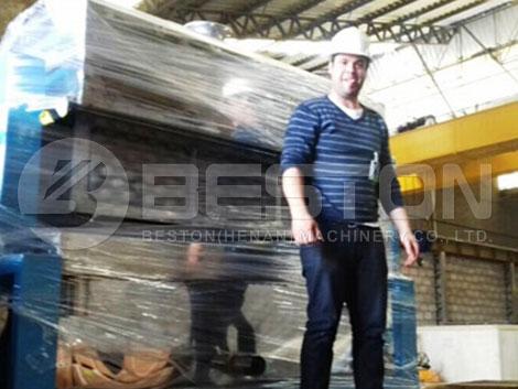 Máquina de bandejas de manzana a Brasil