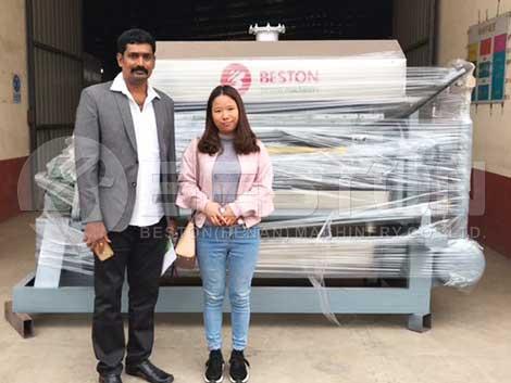 Máquina de bandejas de huevos BTF-4-4 a la India