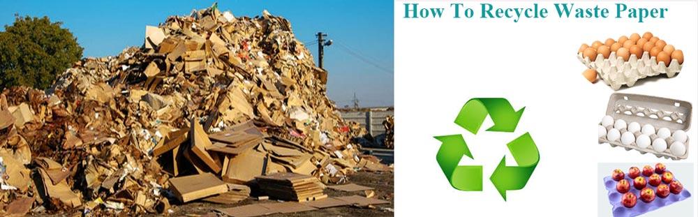 Contexte des déchets de papier
