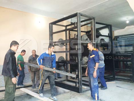 Egg Tray Drying System Installed in Algeria