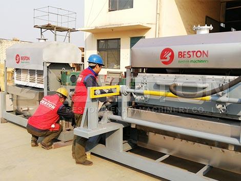 Máquina de fabricación de bandejas de huevos a la India
