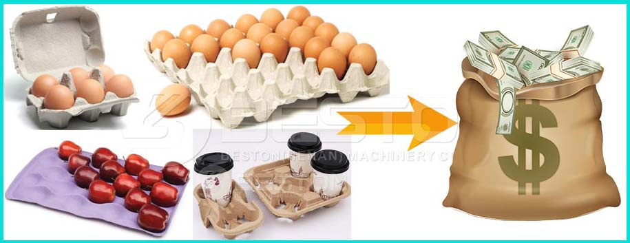 End-Products of Automatic Egg Tray Machine To Make Money
