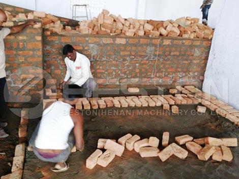 Instalar una línea de secado de bandejas de huevos en la India