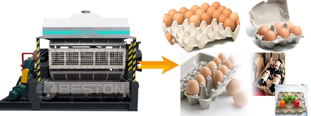 Полуавтоматическая машина для лотков для яиц