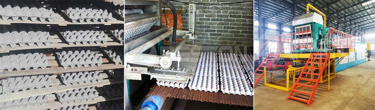 Sistema de secagem para máquina de embalagem de ovos