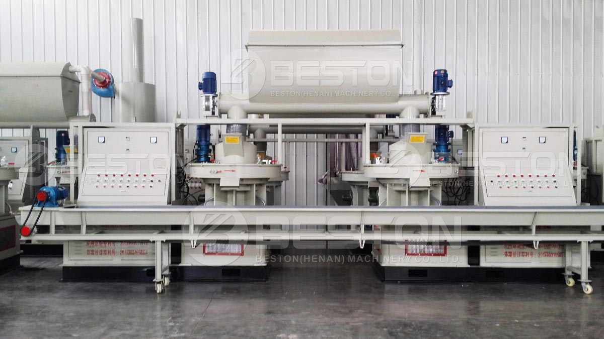 Dos juegos de máquinas para fabricar pellets