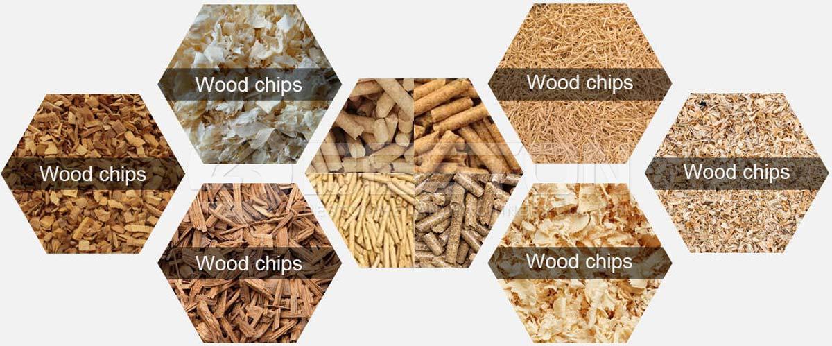 Varias maderas para hacer pellets