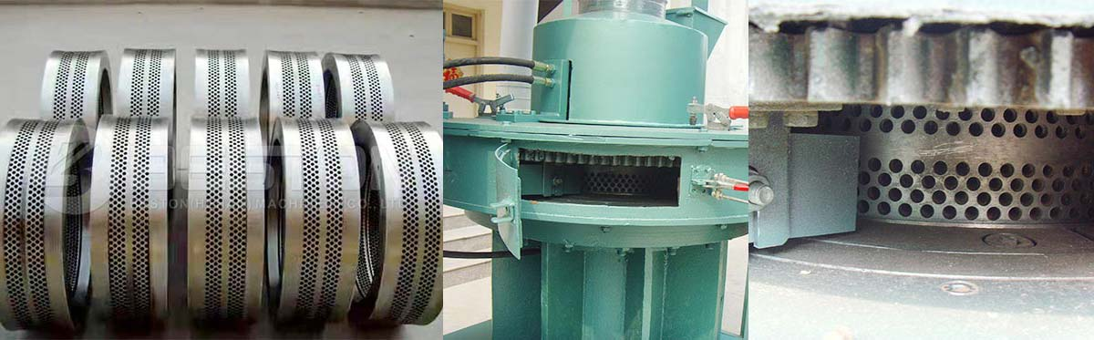 Vertical Ring Die of Rice Husk Pellet Making Machine