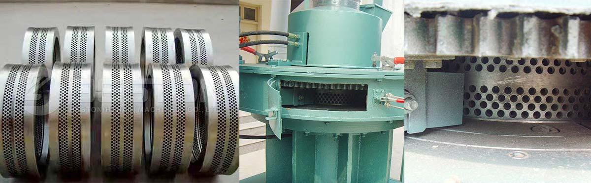 El anillo vertical muere de la máquina de hacer pellets de cáscara de arroz
