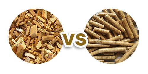 Pellets de madera VS madera