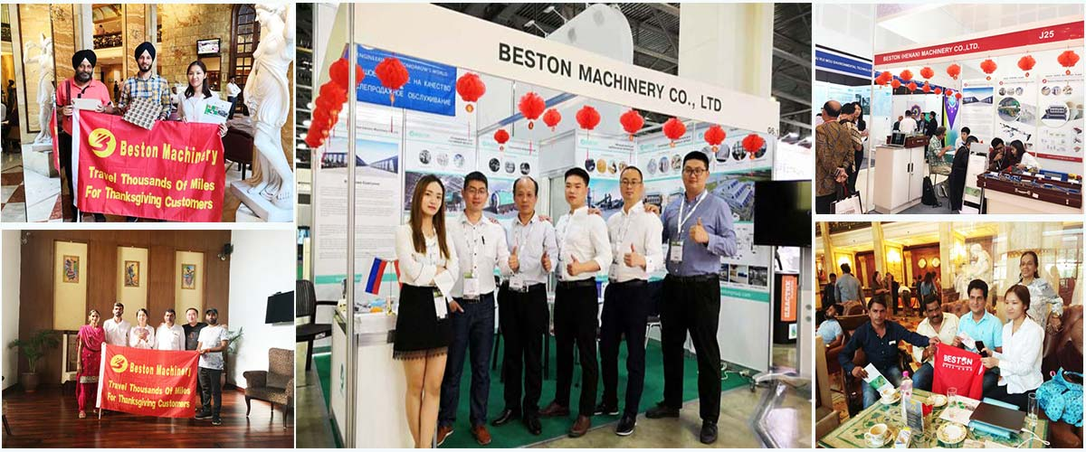 Beston Exhibitions and Visiting Customers