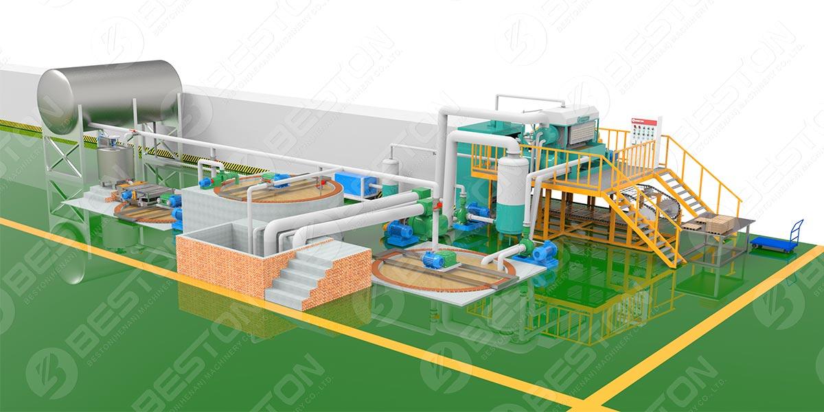 3D Layout of Paper Pulp Molding Machine