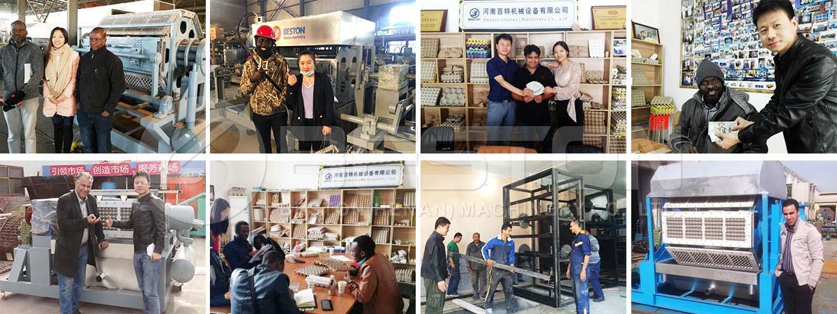 Customers Buy Pulp Molding Machine