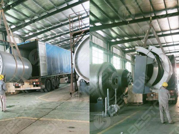 Máquina de produção de carvão em lote BST-J12 para Gana