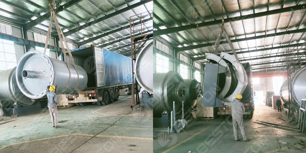 BST-J12 Batch Charcoal Making Machine to Ghana