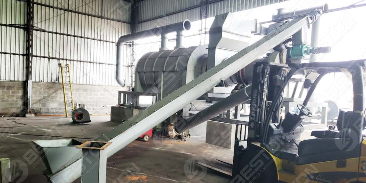 Rice Husk Charcoal Making Machine Installed in Brazil