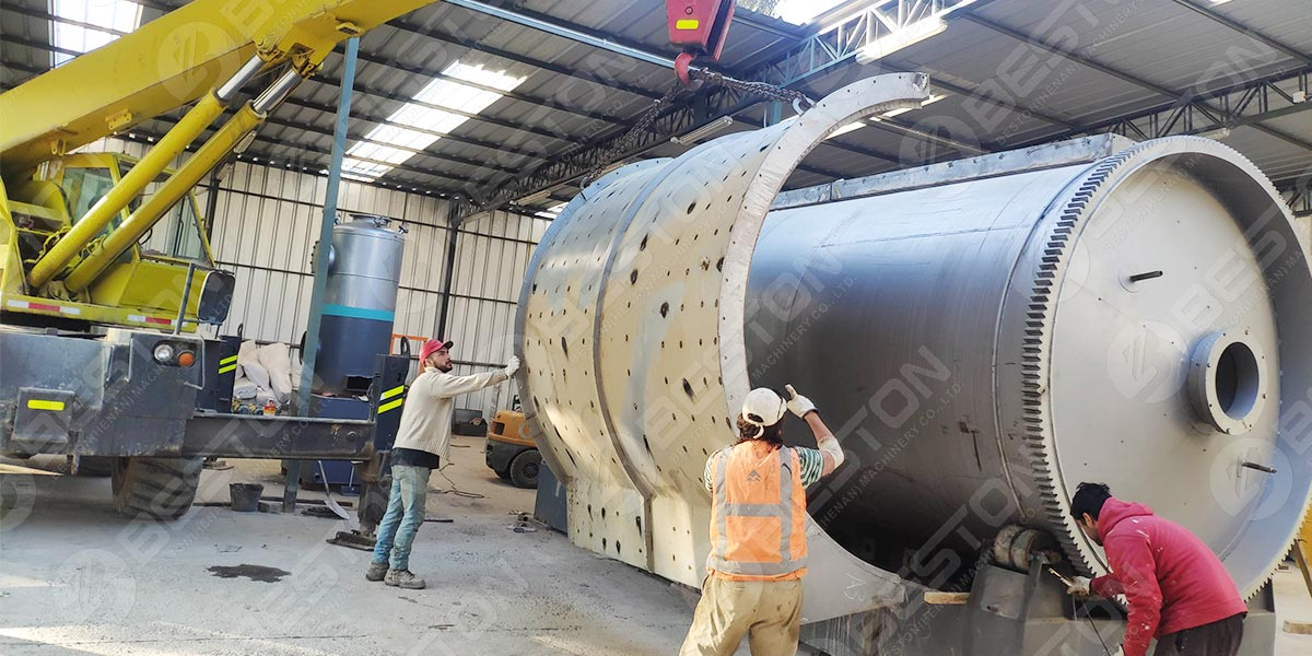 Small Pyrolysis Plant Installed in Chile