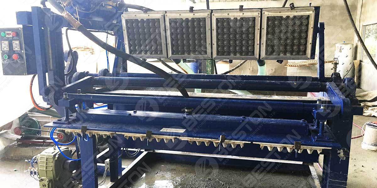 1500pcs Egg Tray Machine in the Philippines