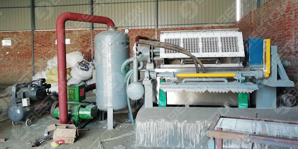 آلة صينية البيض 2500 قطعة مثبتة في الهند
