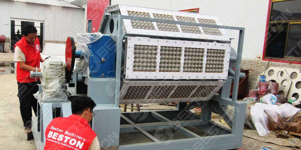 BTF4-8-3500-4500pcs Máquina para fabricar bandejas de huevos