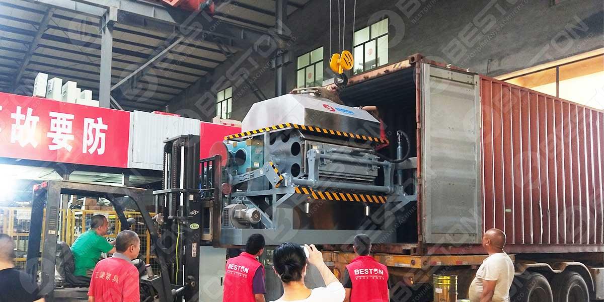 Máquina de bandejas de huevos BTF4-8 a Mozambique