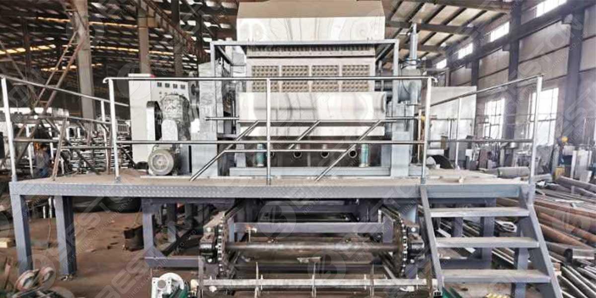 BTF4-8 Máquina para fabricar bandejas de huevos a Rusia