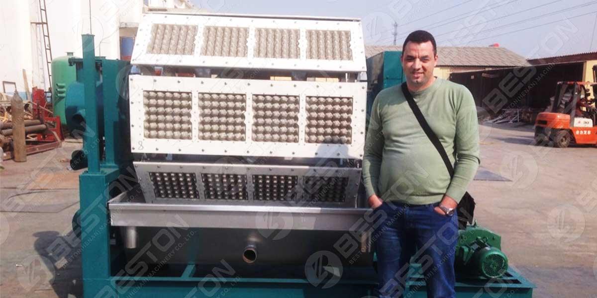 Máquina para fabricar bandejas de huevos BTF4-8