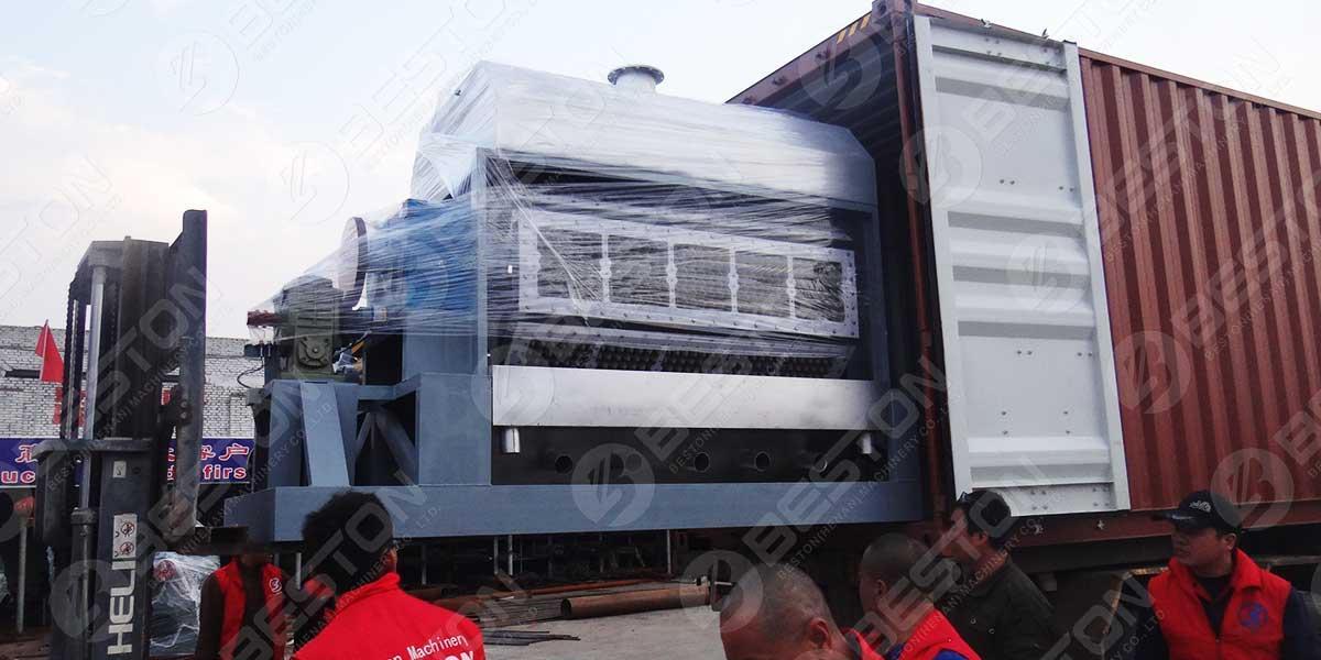 BTF5-8 Máquina de fazer bandejas de ovos para o Egito